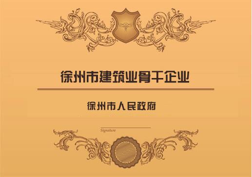 徐州市建筑業骨干企業
